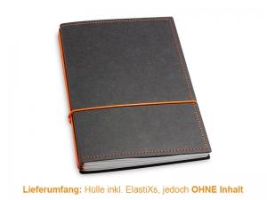 A5 Hülle 3er Texon schwarz/orange inkl. ElastiXs
