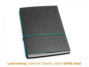 A5 Hülle 3er Texon schwarz/türkisgrün inkl. ElastiXs