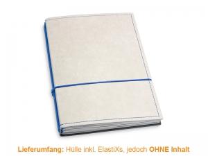 A5 Hülle 3er Texon stone/blau inkl. ElastiXs