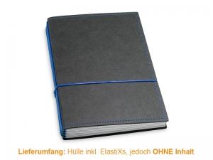 A5 Hülle 4er Texon schwarz/blau inkl. ElastiXs