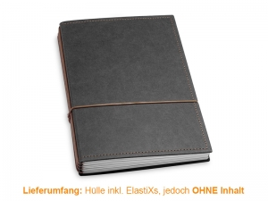A5 Hülle 4er Texon schwarz/braun inkl. ElastiXs