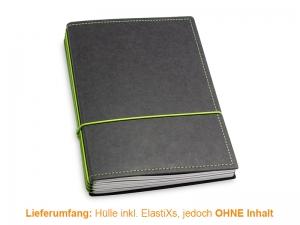 A5 Hülle 4er Texon schwarz/grün inkl. ElastiXs