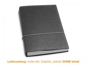 A5 Hülle 4er Texon schwarz/grau inkl. ElastiXs