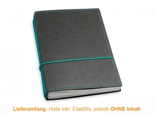 A5 Hülle 4er Texon schwarz/türkisgrün inkl. ElastiXs