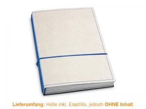 A5 Hülle 4er Texon stone/blau inkl. ElastiXs