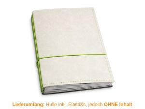 A5 Hülle 4er Texon stone/grün inkl. ElastiXs