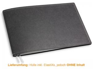 A5+ Quer Hülle 1er Texon schwarz/grau inkl. ElastiX
