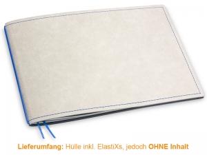 A5+ Quer Hülle 1er Texon stone/blau inkl. ElastiX