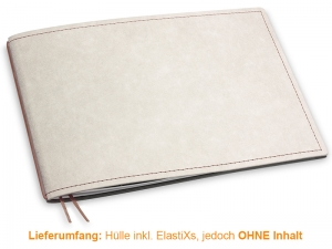 A5+ Quer Hülle 1er Texon stone/braun inkl. ElastiX