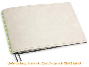 A5+ Quer Hülle 1er Texon stone/grün inkl. ElastiX