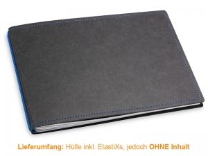 A5+ Quer Hülle 2er Texon schwarz/blau inkl. ElastiXs