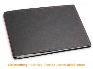 A5+ Quer Hülle 2er Texon schwarz/braun inkl. ElastiXs