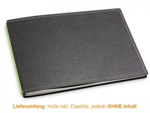 A5+ Quer Hülle 2er Texon schwarz/grün inkl. ElastiXs