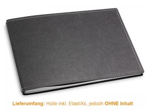 A5+ Quer Hülle 2er Texon schwarz/grau inkl. ElastiXs