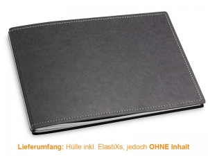 A5+ Quer Hülle 3er Texon schwarz/grau inkl. ElastiXs