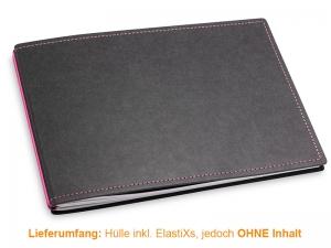 A5+ Quer Hülle 2er Texon schwarz/magenta inkl. ElastiXs