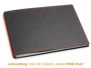 A5+ Quer Hülle 2er Texon schwarz/orange inkl. ElastiXs