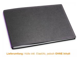 A5+ Quer Hülle 2er Texon schwarz/lila inkl. ElastiXs