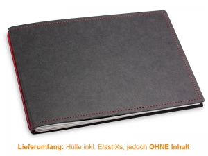 A5+ Quer Hülle 2er Texon schwarz/rot inkl. ElastiXs