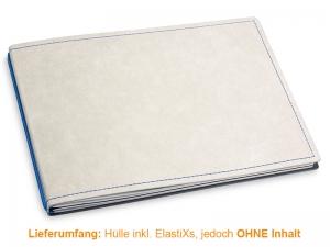 A5+ Quer Hülle 2er Texon stone/blau inkl. ElastiXs