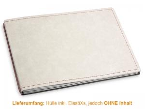 A5+ Quer Hülle 2er Texon stone/braun inkl. ElastiXs
