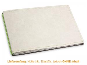 A5+ Quer Hülle 2er Texon stone/grün inkl. ElastiXs