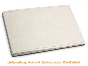 A5+ Quer Hülle 2er Texon stone/grau inkl. ElastiXs