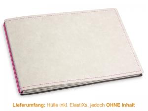 A5+ Quer Hülle 2er Texon stone/magenta inkl. ElastiXs
