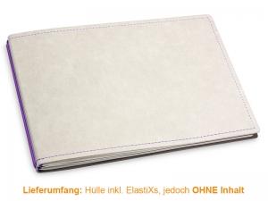 A5+ Quer Hülle 2er Texon stone/lila inkl. ElastiXs