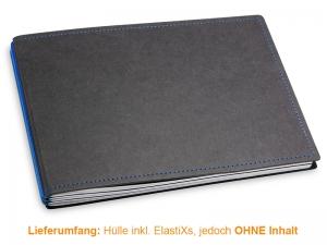 A5+ Quer Hülle 3er Texon schwarz/blau inkl. ElastiXs