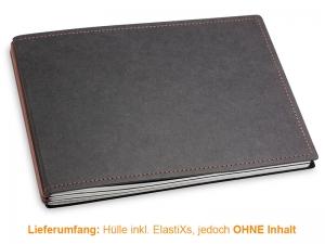 A5+ Quer Hülle 3er Texon schwarz/braun inkl. ElastiXs