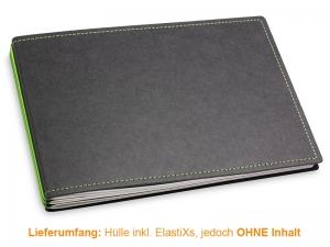 A5+ Quer Hülle 3er Texon schwarz/grün inkl. ElastiXs