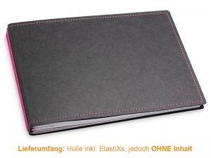 A5+ Quer Hülle 3er Texon schwarz/magenta inkl. ElastiXs