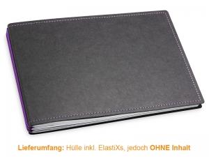 A5+ Quer Hülle 3er Texon schwarz/lila inkl. ElastiXs