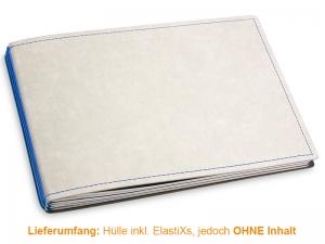 A5+ Quer Hülle 3er Texon stone/blau inkl. ElastiXs