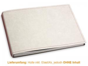 A5+ Quer Hülle 3er Texon stone/braun inkl. ElastiXs
