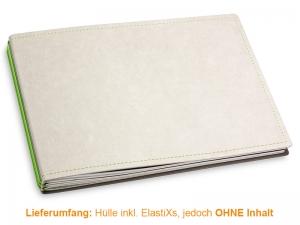 A5+ Quer Hülle 3er Texon stone/grün inkl. ElastiXs