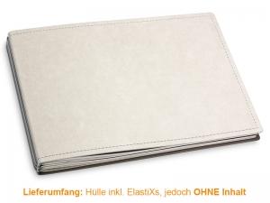 A5+ Quer Hülle 3er Texon stone/grau inkl. ElastiXs