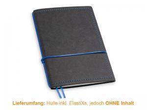A6 Hülle 1er Texon schwarz/blau inkl. ElastiXs
