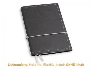A6 Hülle 2er Texon schwarz/grau inkl. ElastiXs