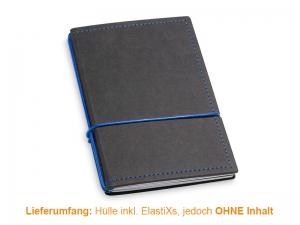 A6 Hülle 2er Texon schwarz/blau inkl. ElastiXs