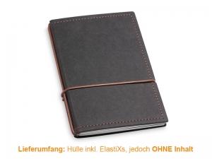 A6 Hülle 2er Texon schwarz/braun inkl. ElastiXs