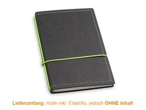 A6 Hülle 2er Texon schwarz/grün inkl. ElastiXs