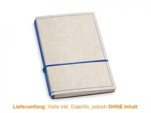 A6 Hülle 2er Texon stone/blau inkl. ElastiXs