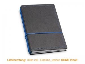 A6 Hülle 3er Texon schwarz/blau inkl. ElastiXs