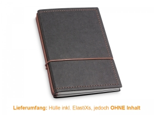 A6 Hülle 3er Texon schwarz/braun inkl. ElastiXs