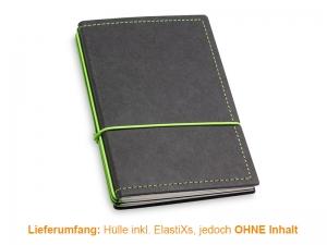 A6 Hülle 3er Texon schwarz/grün inkl. ElastiXs