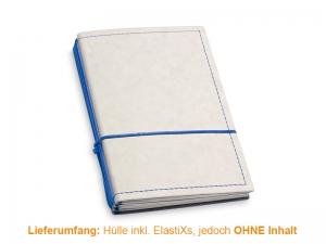 A6 Hülle 3er Texon stone/blau inkl. ElastiXs