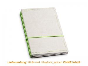 A6 Hülle 3er Texon stone/grün inkl. ElastiXs