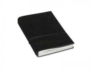 A6 LeatherSkin Hülle schwarz, inkl. ElastiXs